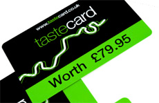 Tastecard worth �79.95 available with Show & Stay